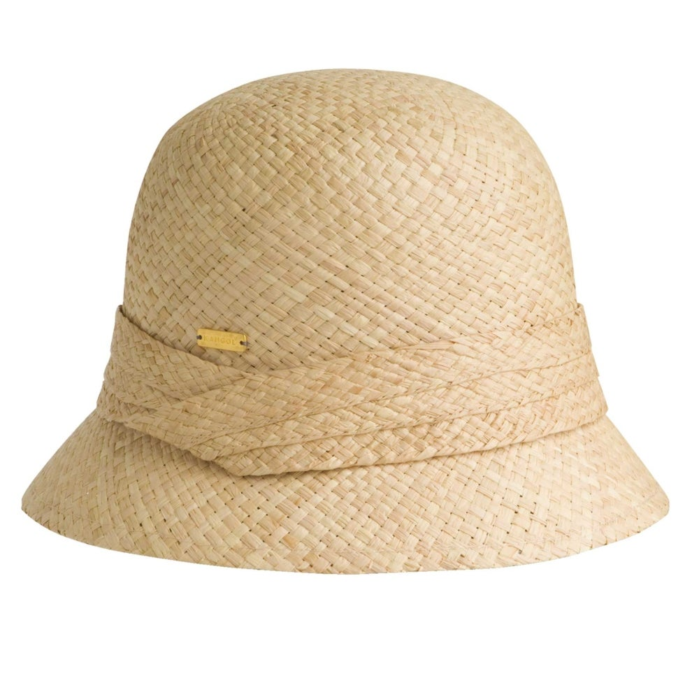Pleated Straw Cloche