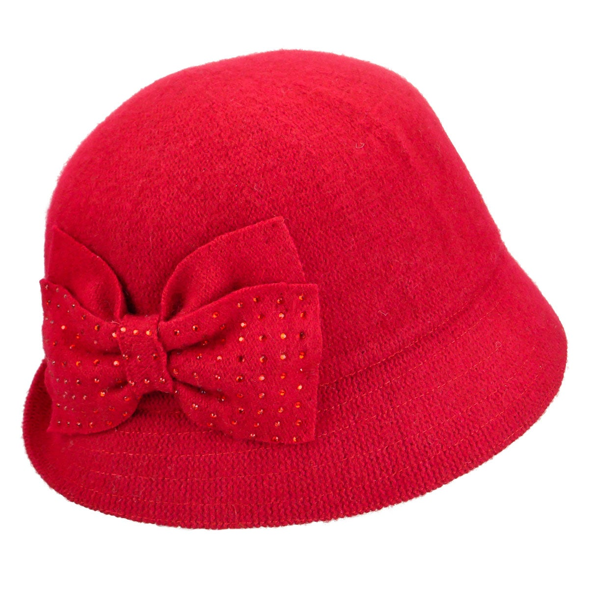 1920s Hat Styles for Women- History Beyond the Cloche Hat Betty Wool Cloche $50.00 AT vintagedancer.com