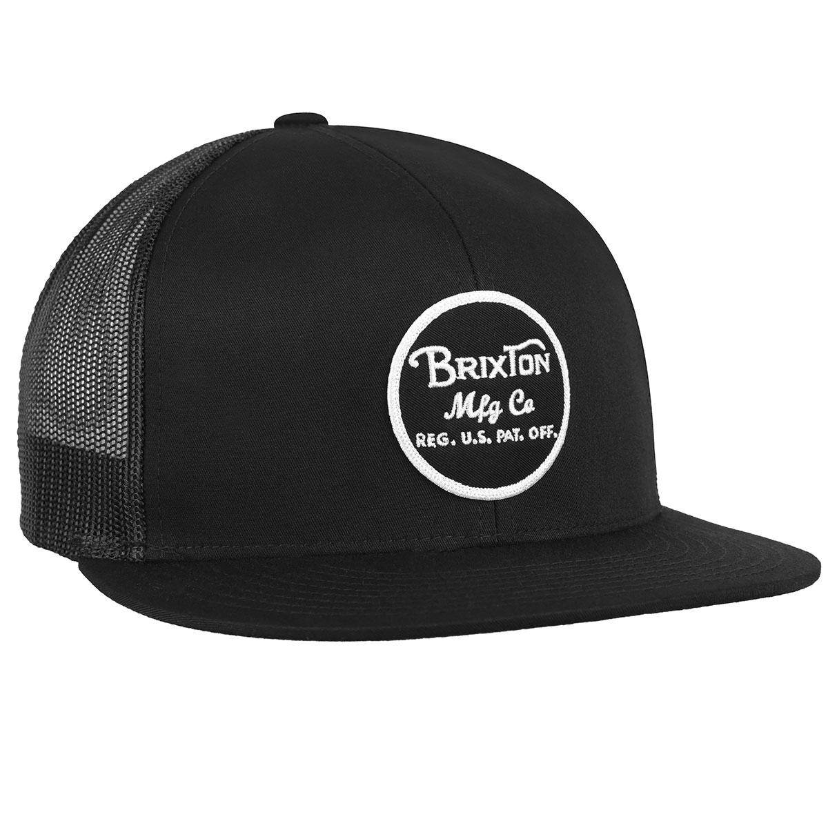 Brixton Wheeler Mesh Cap in Black,Black