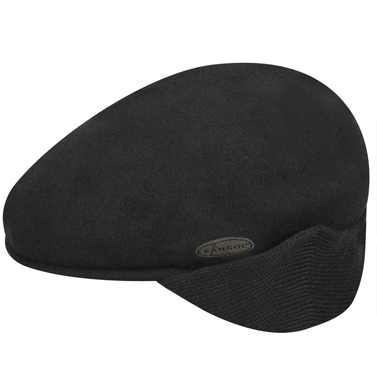 Wool 504 Earflap - Black/XL