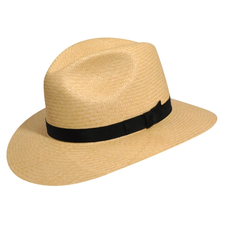 1950s Mens Hats | 50s Vintage Men's Hats Panama Player Fedora $144.00 AT vintagedancer.com