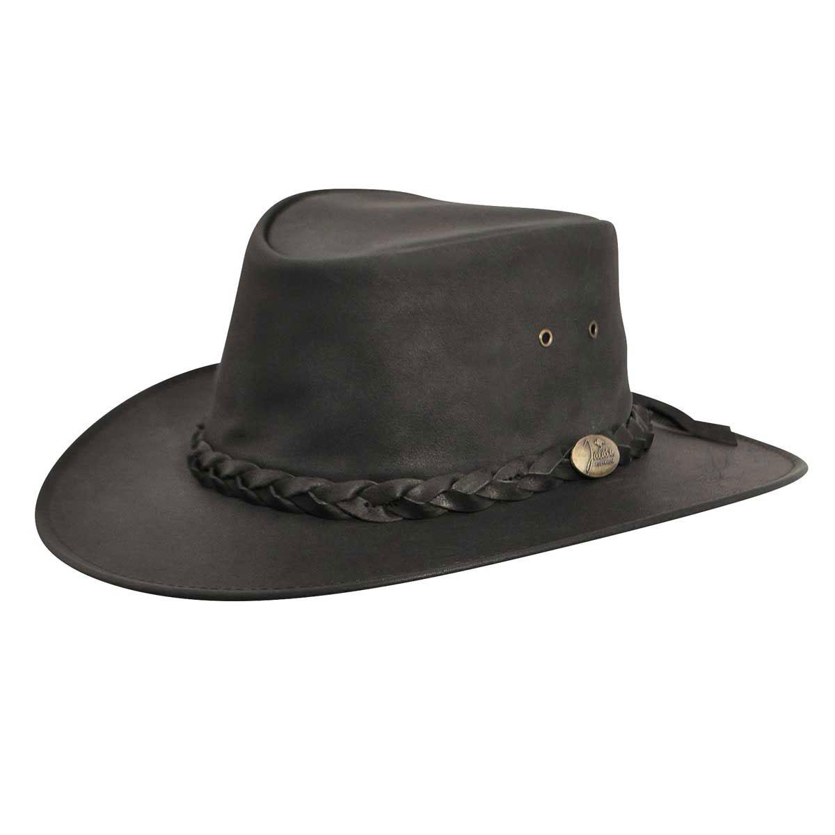 Jacaru Kangaroo Outback Hat in Black