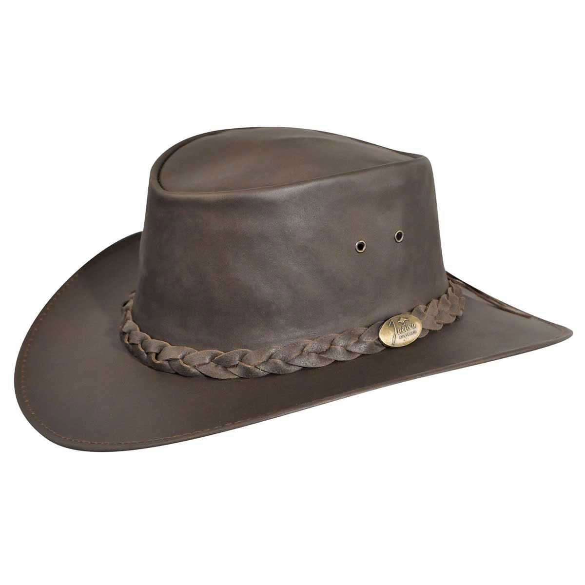 Jacaru Kangaroo Outback Hat in Brown