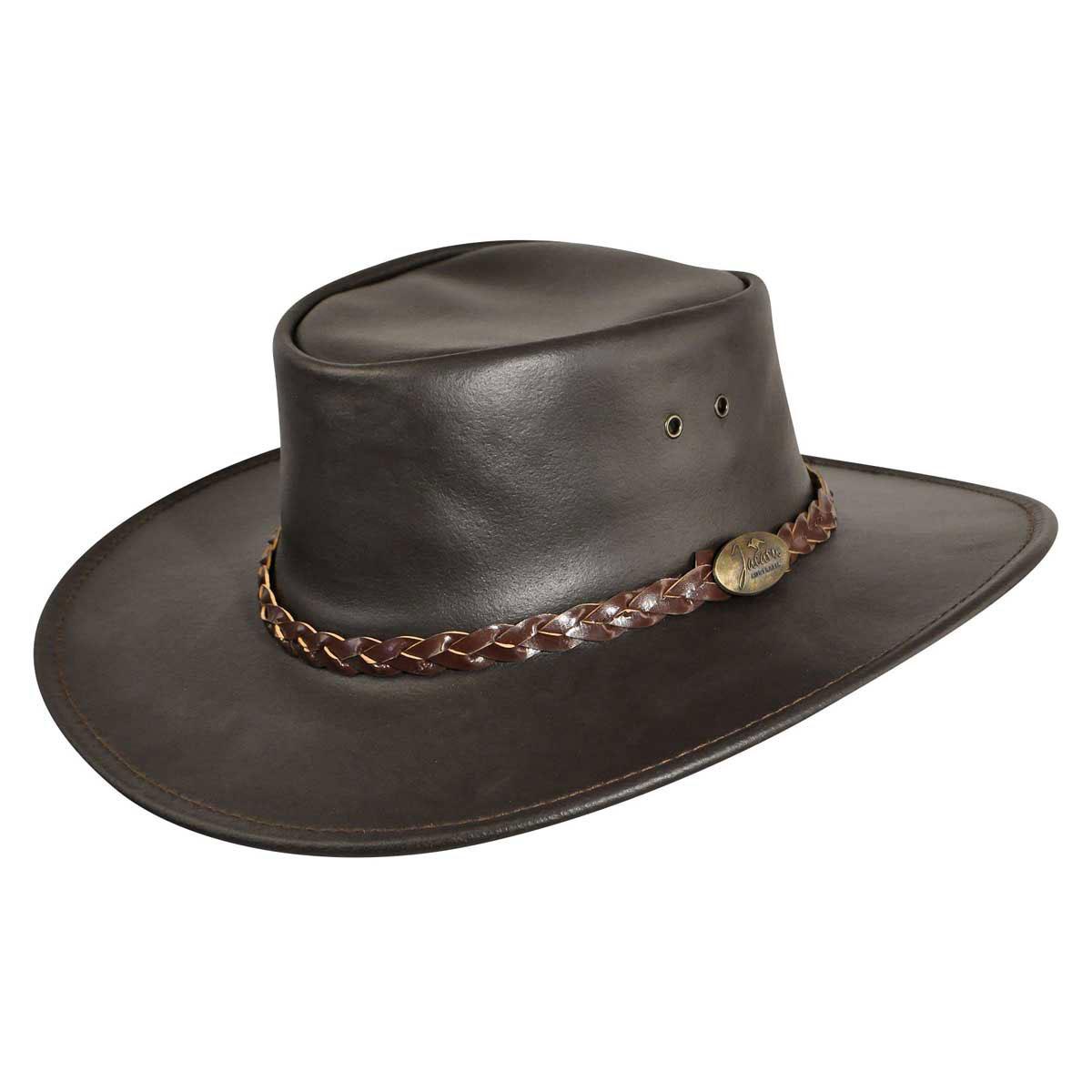 Jacaru Swagman Outback Hat in Brown