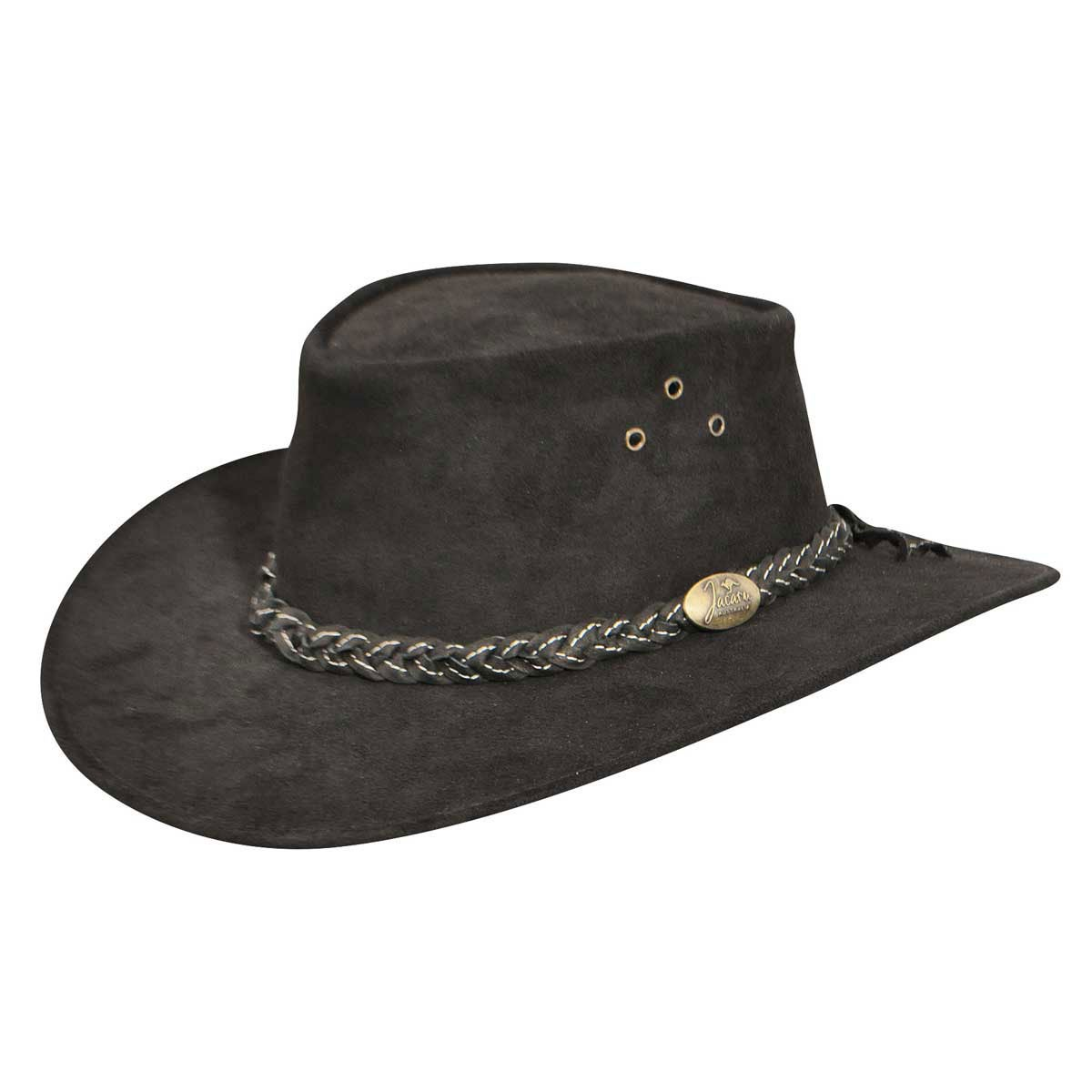 1960s – 70s Style Men's Hats Wallaroo Suede Outback Hat $79.00 AT vintagedancer.com