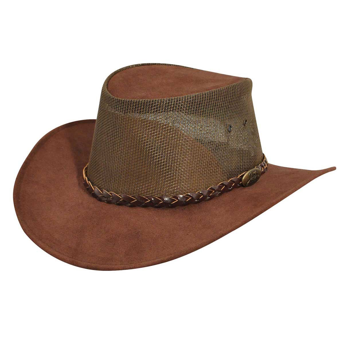 Jacaru Summer Breeze Outback Hat in Brown