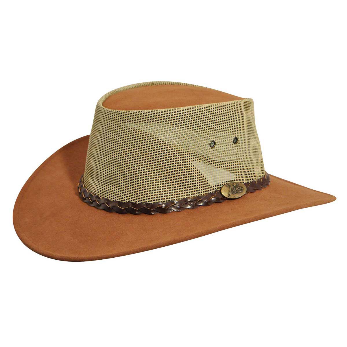 Jacaru Summer Breeze Outback Hat in Mushroom