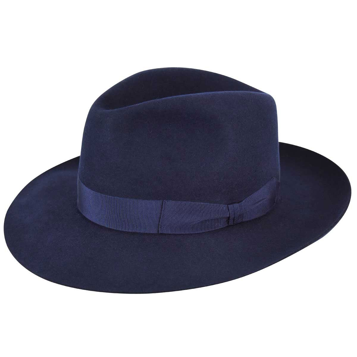 1920s Men's Hats – 8 Popular Styles Super Barbisio Fur Felt Fedora $105.00 AT vintagedancer.com