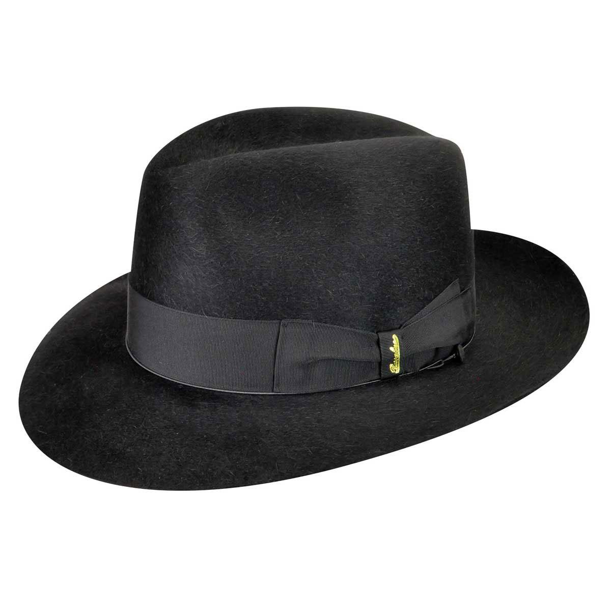Steampunk Hats | Top Hats | Bowler 110836 Qualita Superiore Fur Felt Fedora $455.00 AT vintagedancer.com
