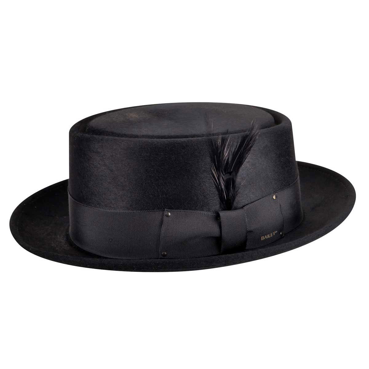 Bailey of Hollywood Jett Pork Pie Hat in Black