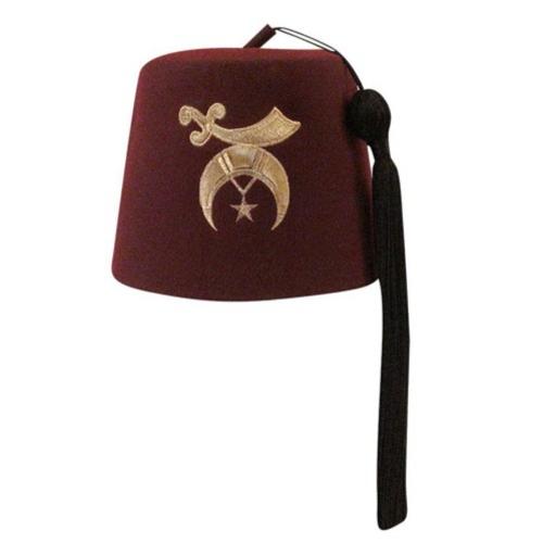 Bollman Hat Company 1870s Bollman Collection Fez in Burgundy