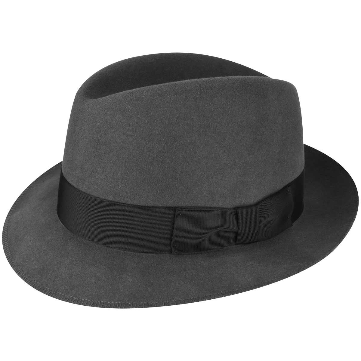 1930s Mens Hat Fashion 1930s Bollman Collection Trilby $100.00 AT vintagedancer.com