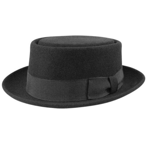 1940s Mens Hats | Fedora, Homburg, Pork Pie Hats 1940s Bollman Collection Pork Pie $100.00 AT vintagedancer.com