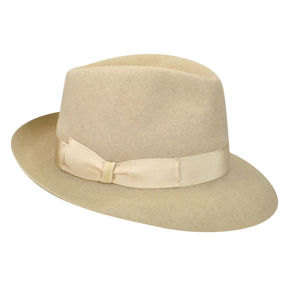 213021 Qualita Superiore Fur Felt Fedora $368.00 AT vintagedancer.com
