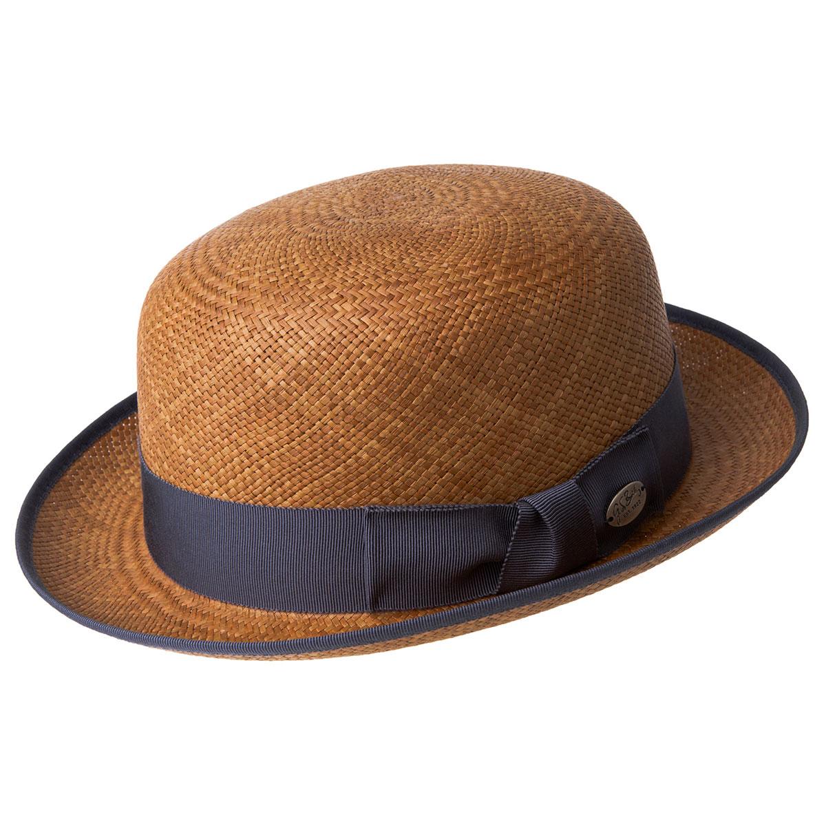 New Edwardian Style Men's Hats 1900-1920 Chaplin Panama Bowler $160.00 AT vintagedancer.com