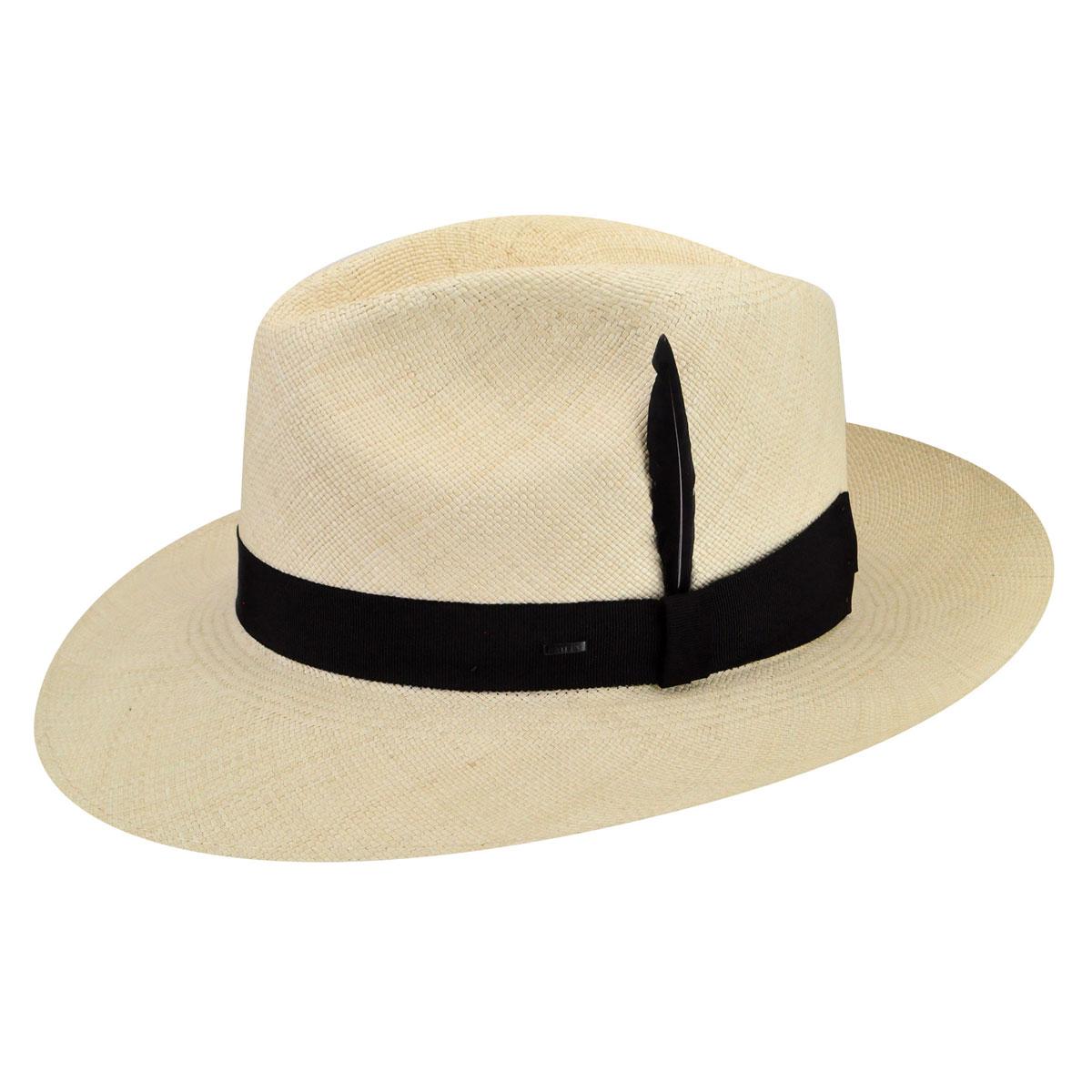 1940s Mens Hat Styles and History Loring Panama Fedora $275.00 AT vintagedancer.com