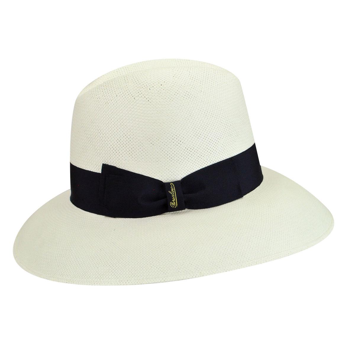 Edwardian Hats, Titanic Hats, Tea Party Hats 232050 Claudette Extra Fine Paper Straw Wide Brim Hat $260.00 AT vintagedancer.com