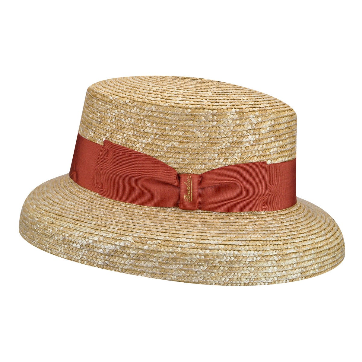 1940s Hats History 232105 Audrey Treccia Paglia Boater $263.00 AT vintagedancer.com