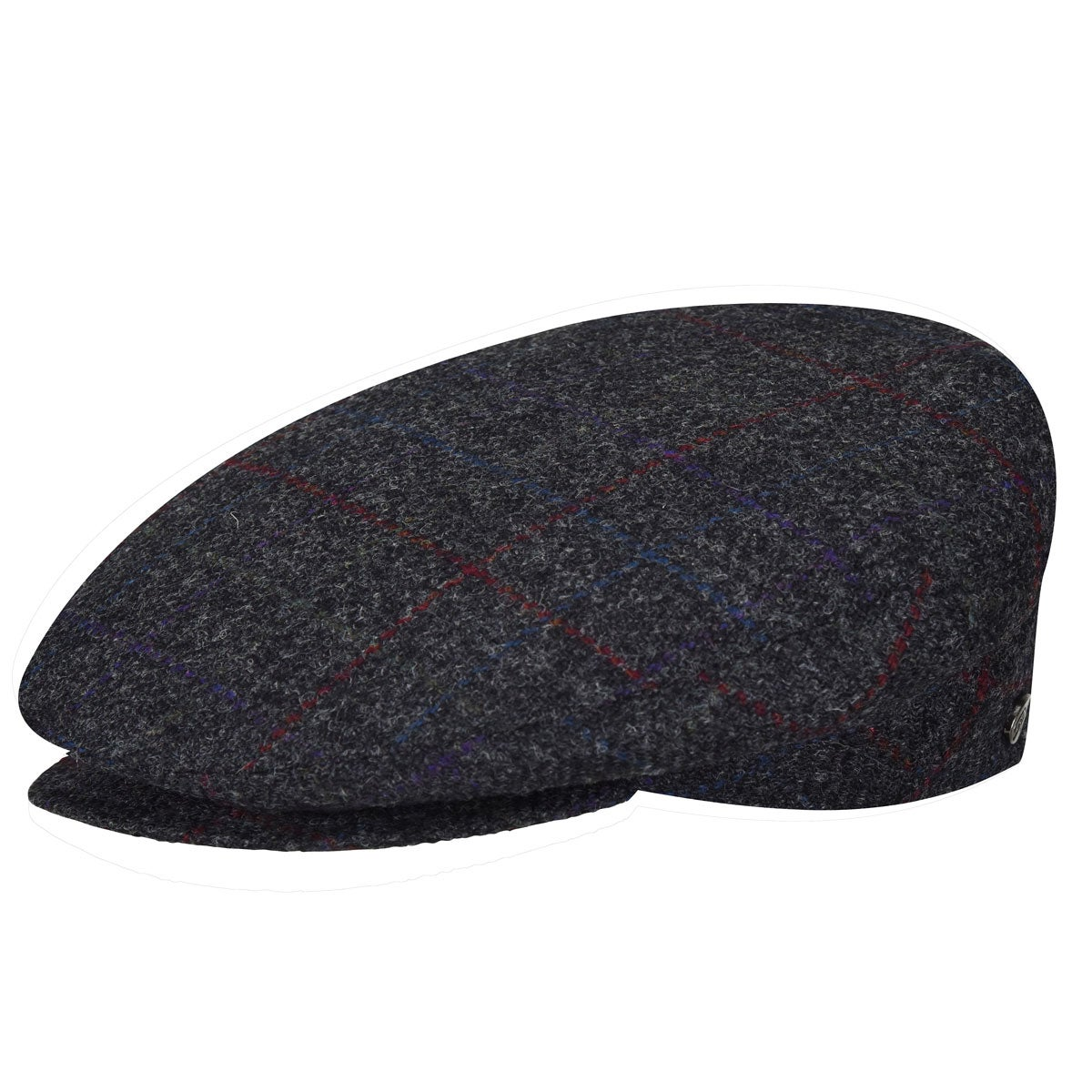 BG Charcoal Plaid Ivy Hat for Fall//Winter