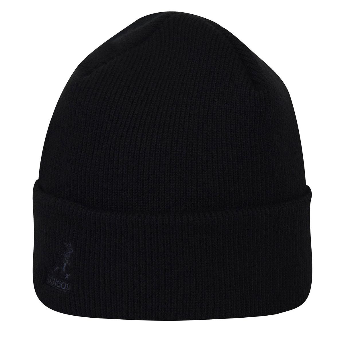 Kangol Acrylic Cuff Pull-On in Black,Black