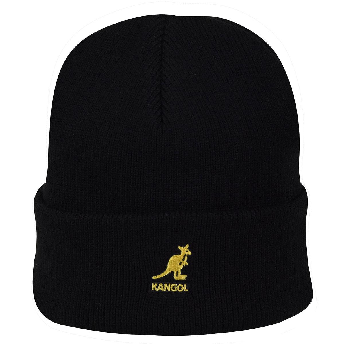Kangol Acrylic Cuff Pull-On in Black,Gold