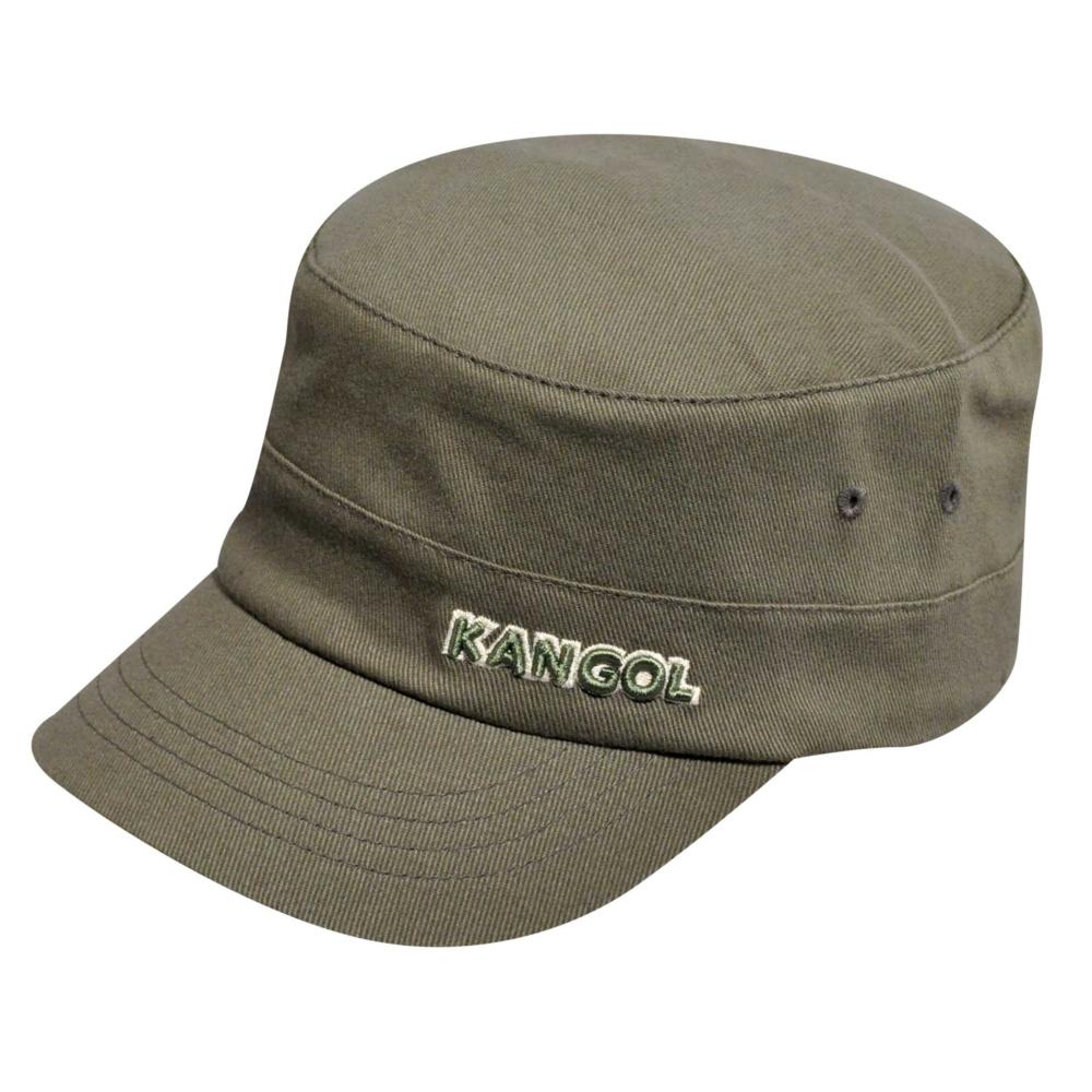 Kangol Cotton Twill Army Cap in Green