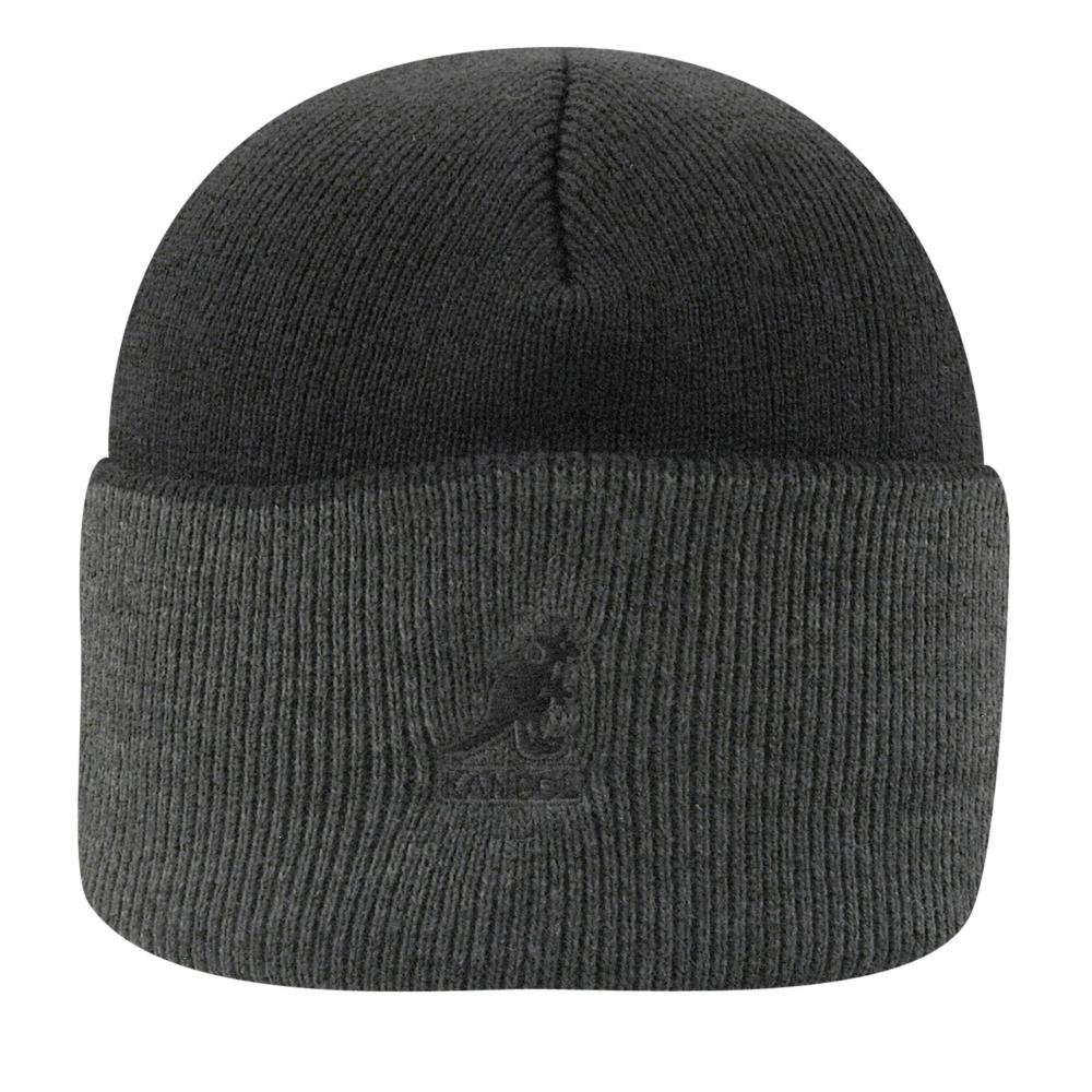 Kangol Acrylic Cuff Pull-On in Black,Dark Flannel