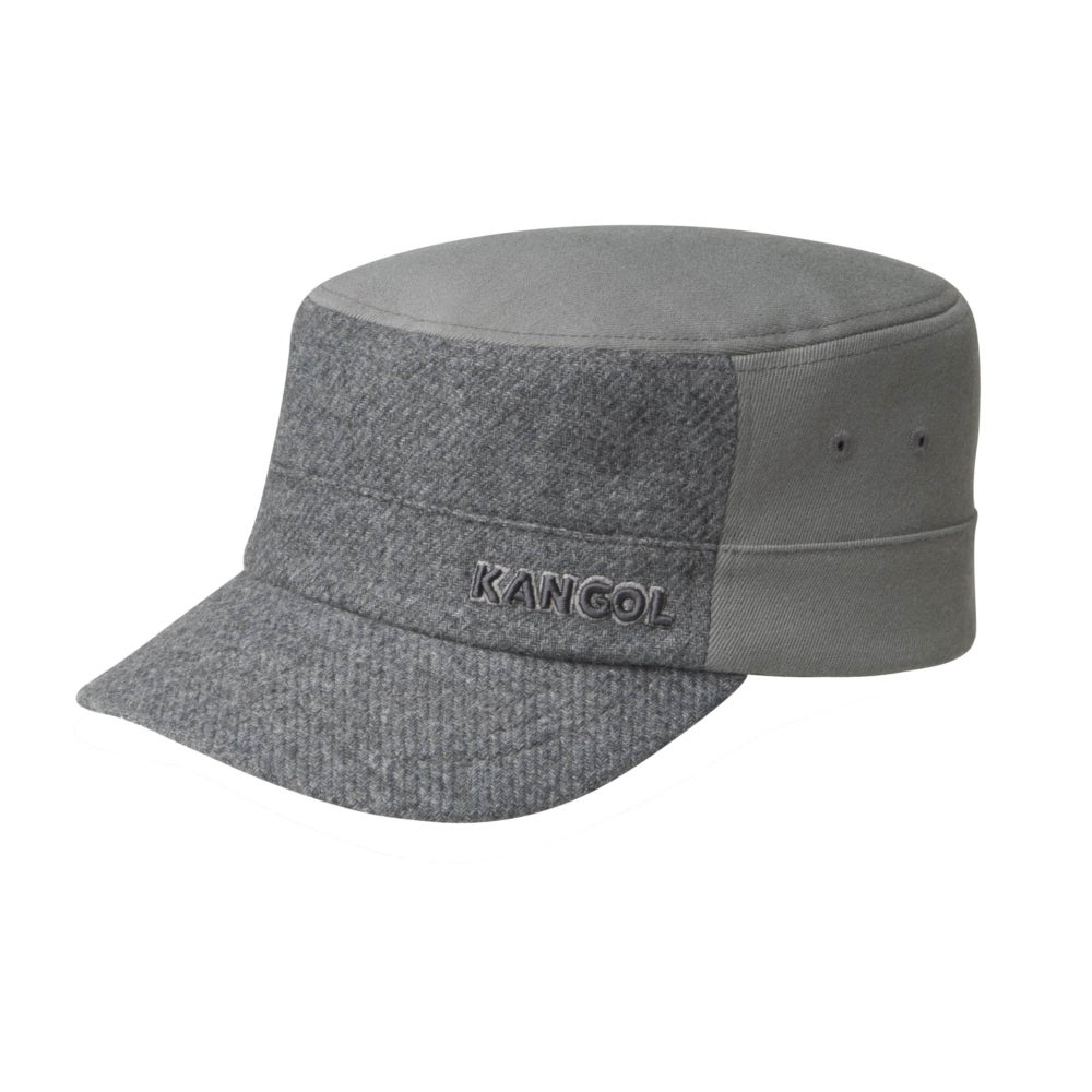 Men's Vintage Workwear Inspired Clothing Textured Wool Army Cap $38.00 AT vintagedancer.com