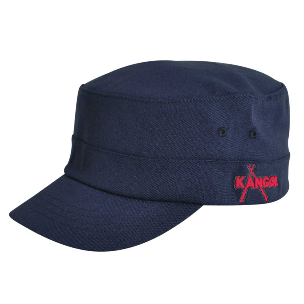 Kangol Championship Army Cap in Dark Blue,Red