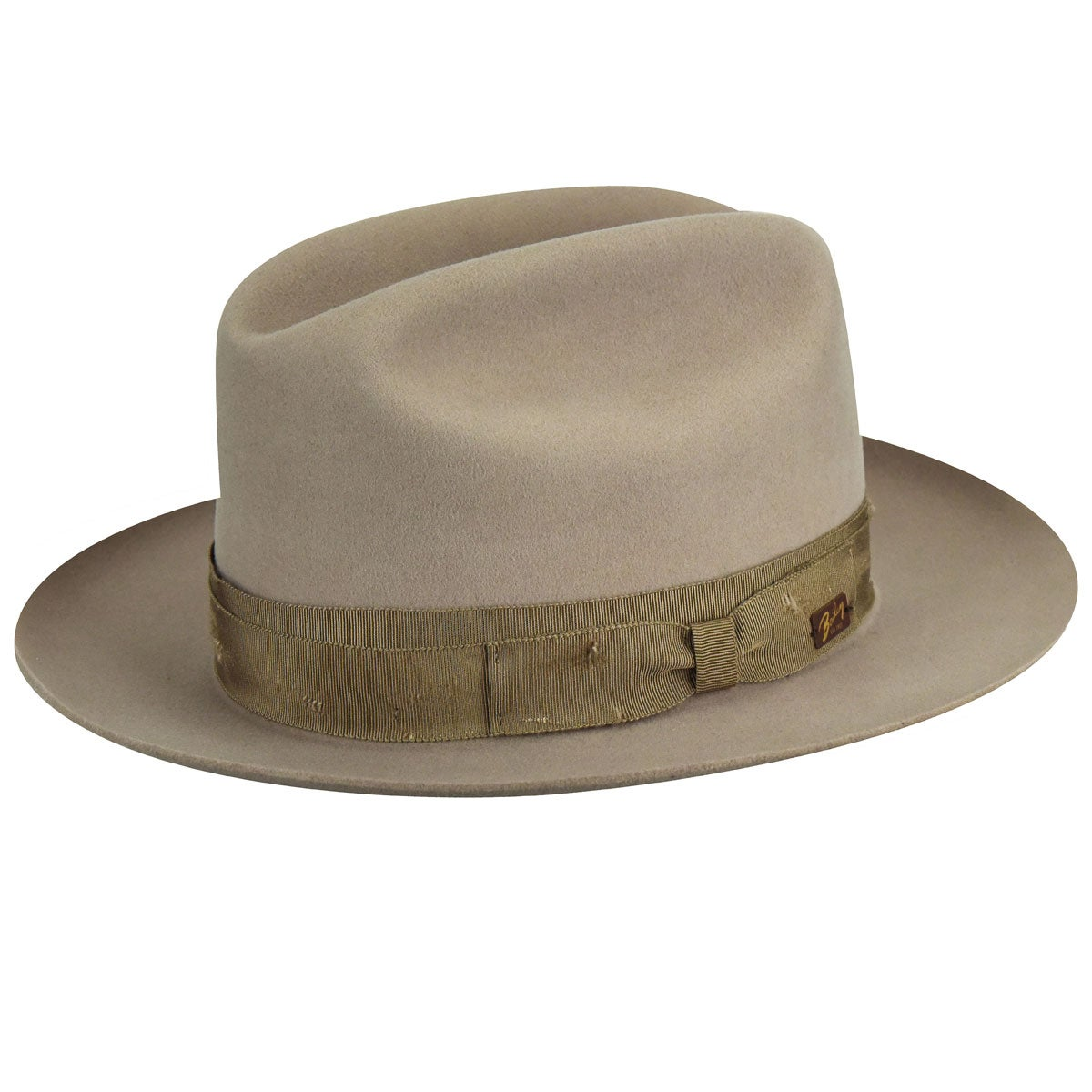 1930s Mens Hat Fashion Collister Distressed Band Fedora $135.00 AT vintagedancer.com