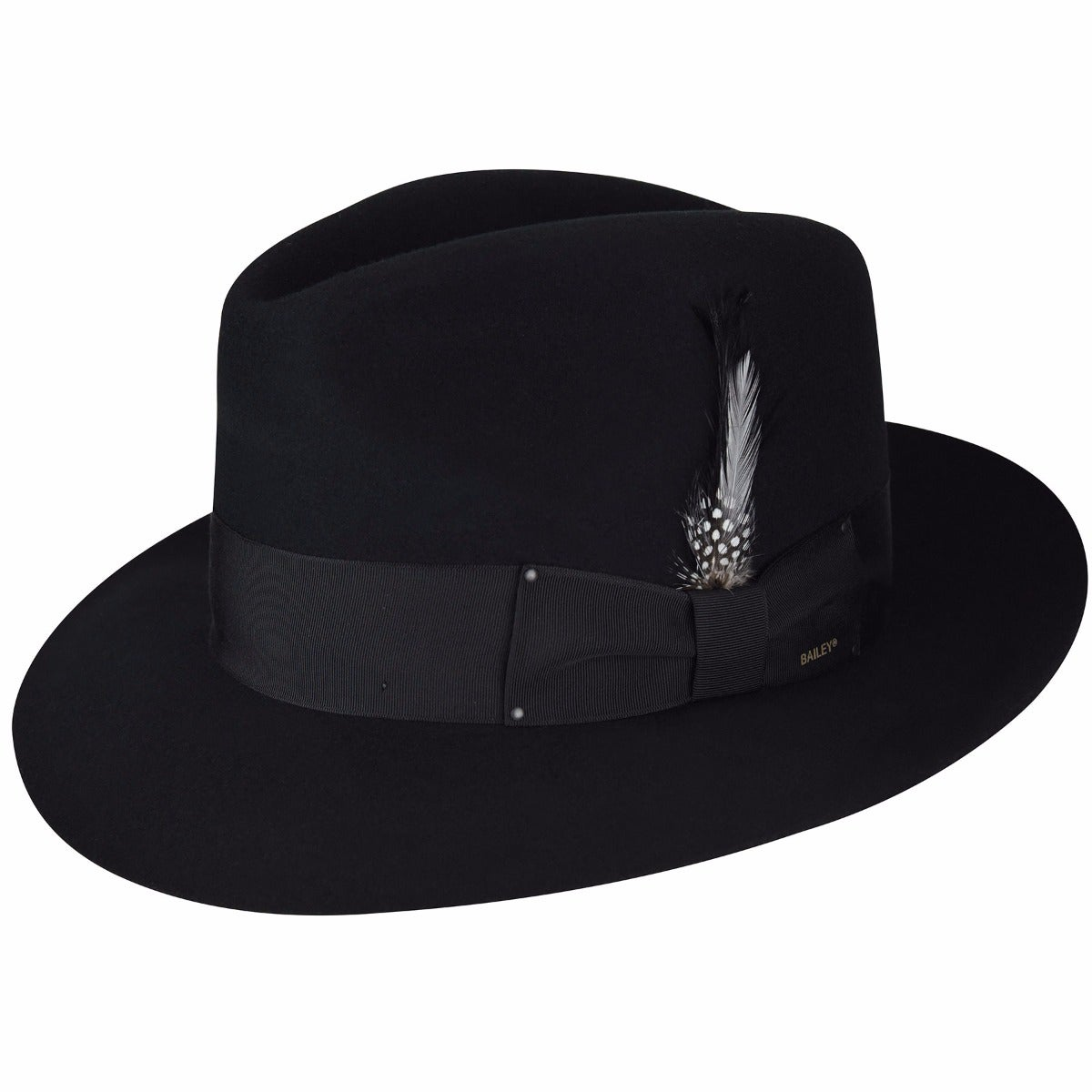 Bailey of Hollywood Gangster Fedora in Black