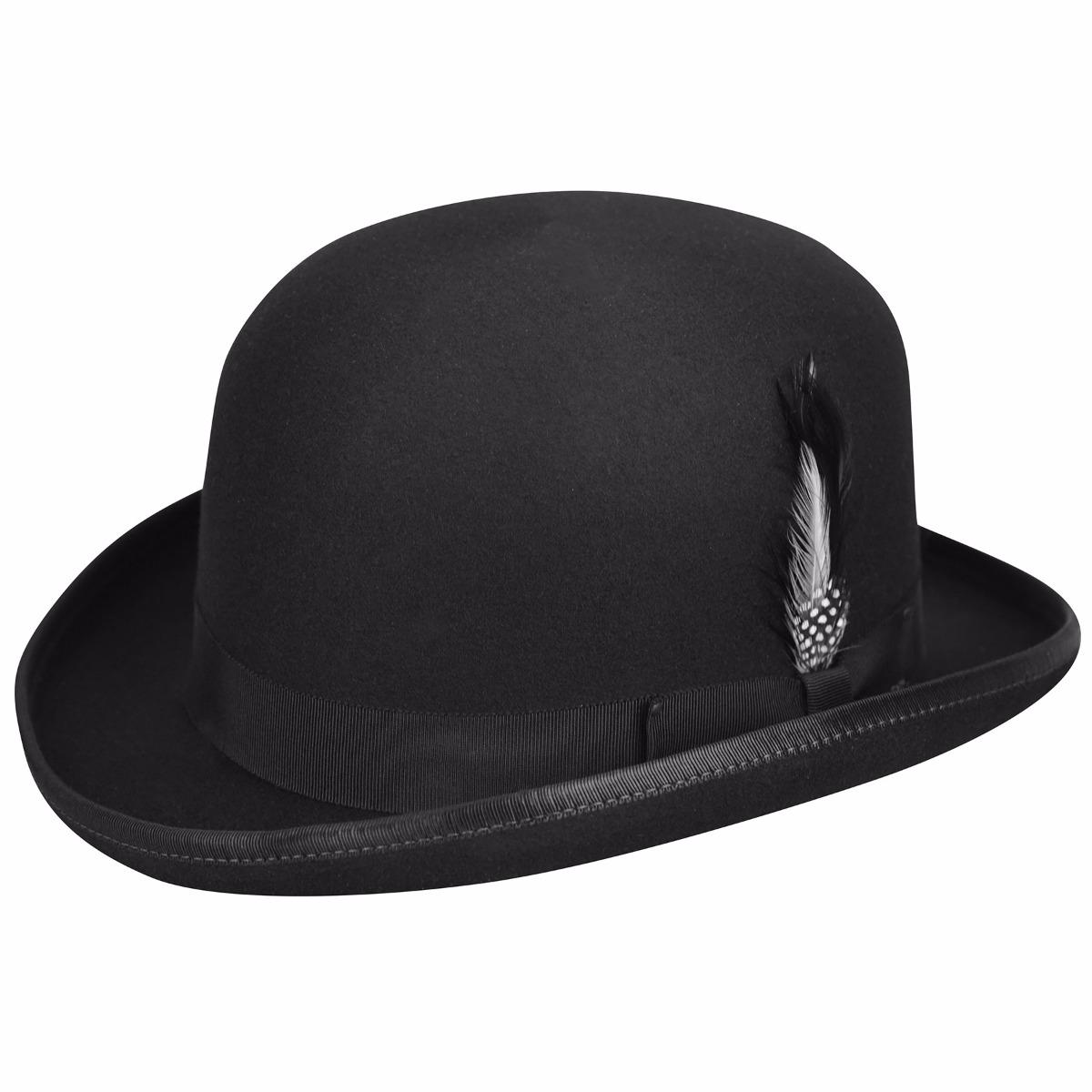 Men's Steampunk Costume Essentials Derby Hat - BlackL $120.00 AT vintagedancer.com