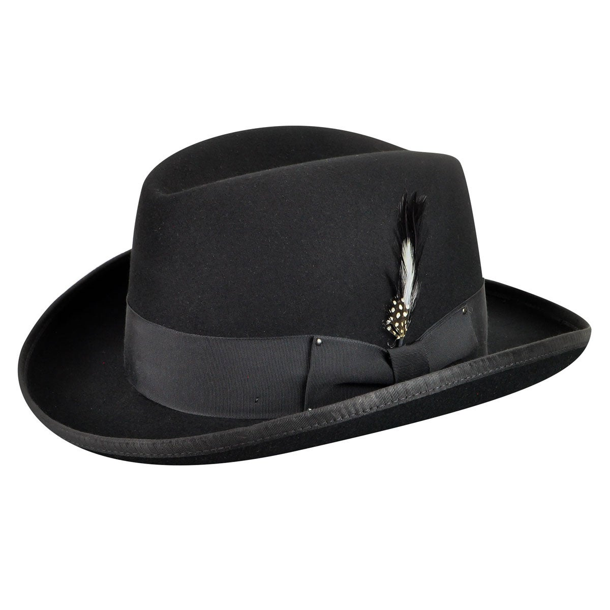 Bailey of Hollywood Godfather Homburg in Black