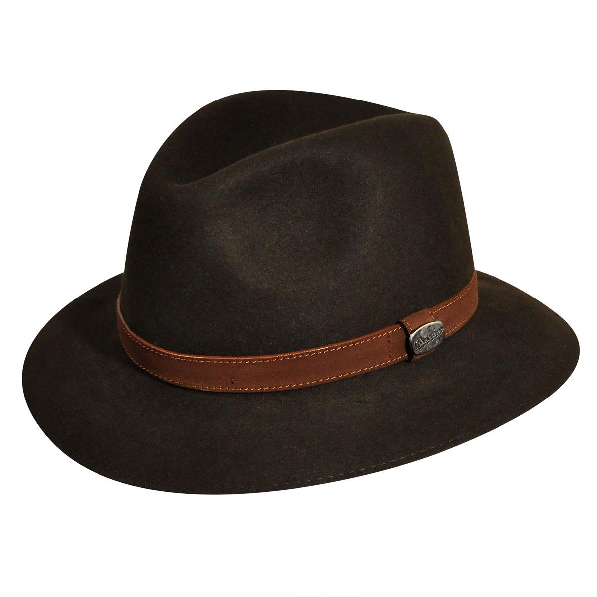 565a7c03751 Borsalino Traveler Fur Felt Fedora 7 1 2 Brown