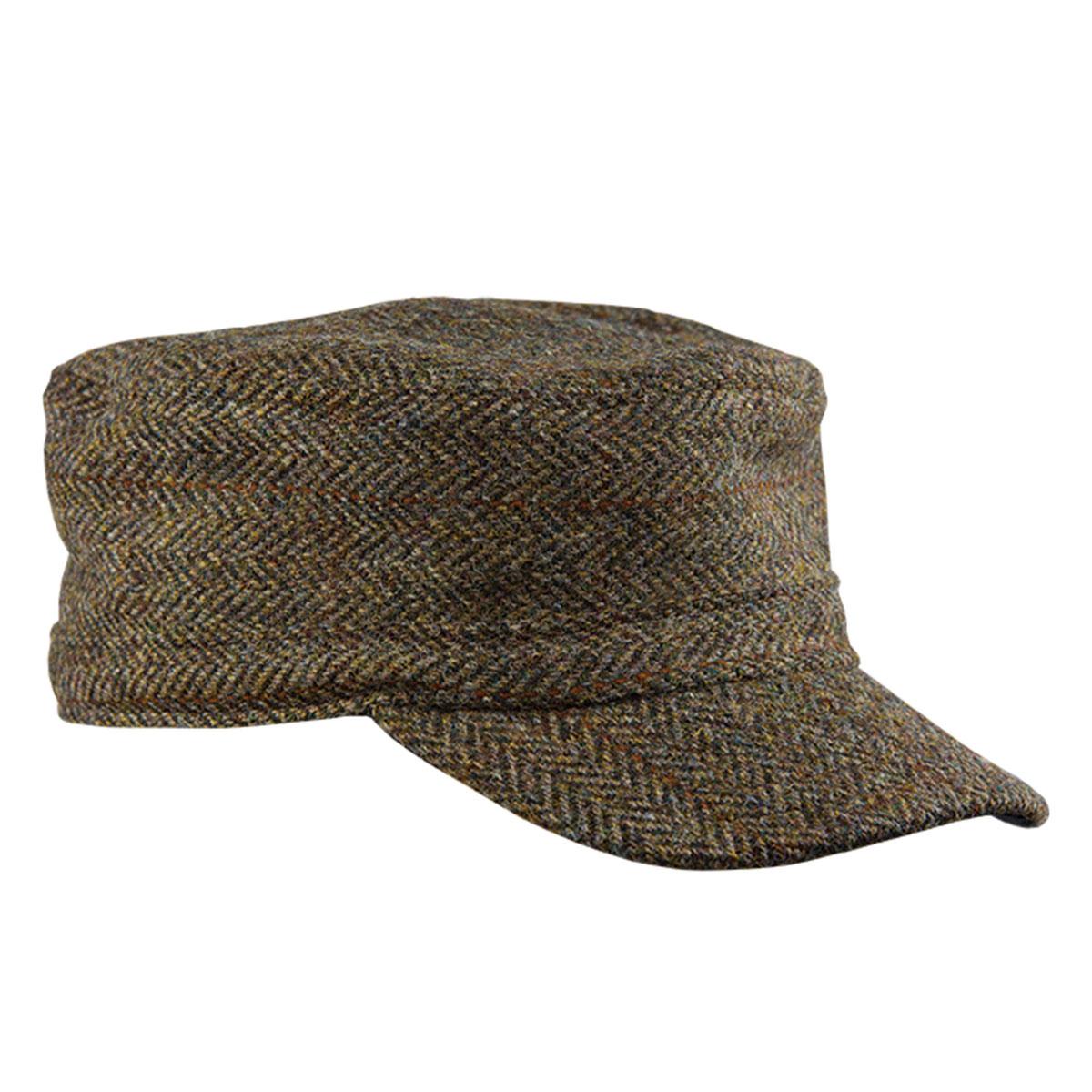1960s – 70s Style Men's Hats Harris Tweed Flat Top Cap $59.99 AT vintagedancer.com
