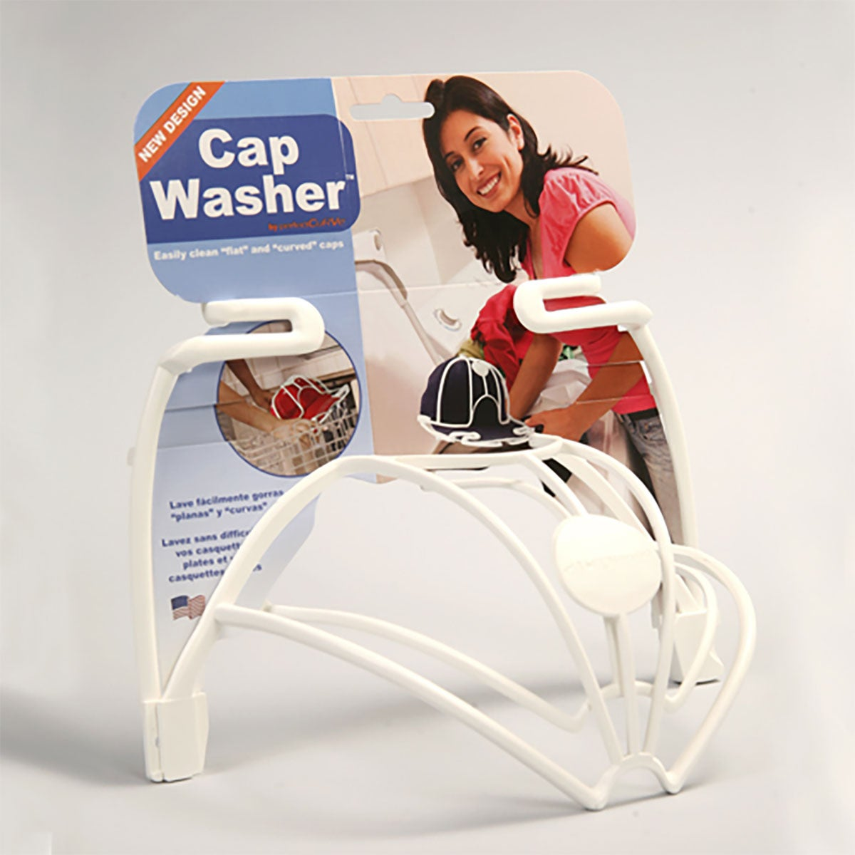 Perfect Curve Cap Washer in White
