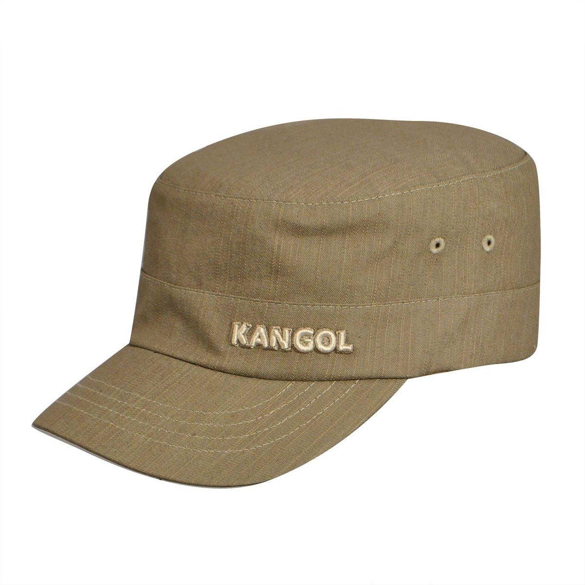 Kangol Denim Flexfit Army Cap in Beige