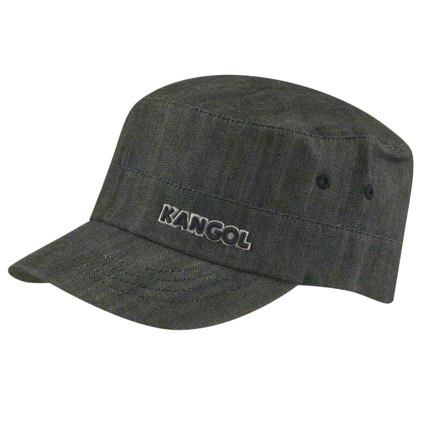 Kangol Denim Flexfit Army Cap in Black