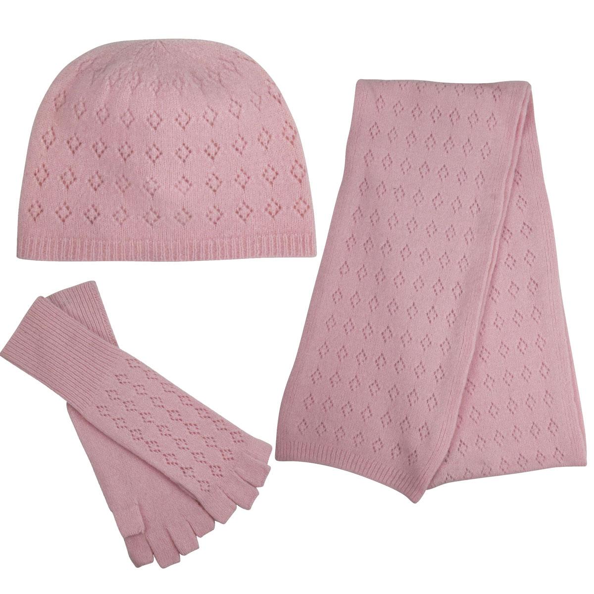 Betmar Pink V Eyelet 3-Piece Set in Pink
