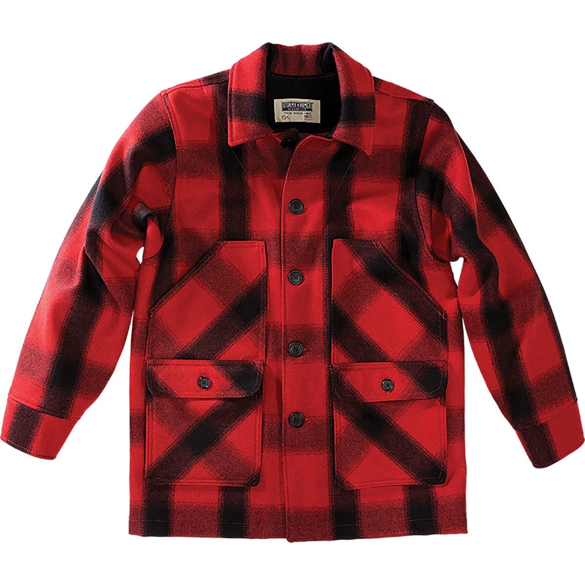 50s Men's Jackets| Greaser Jackets, Leather, Bomber, Gaberdine Mackinaw Coat $279.99 AT vintagedancer.com
