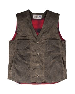 Waxed Button Vest