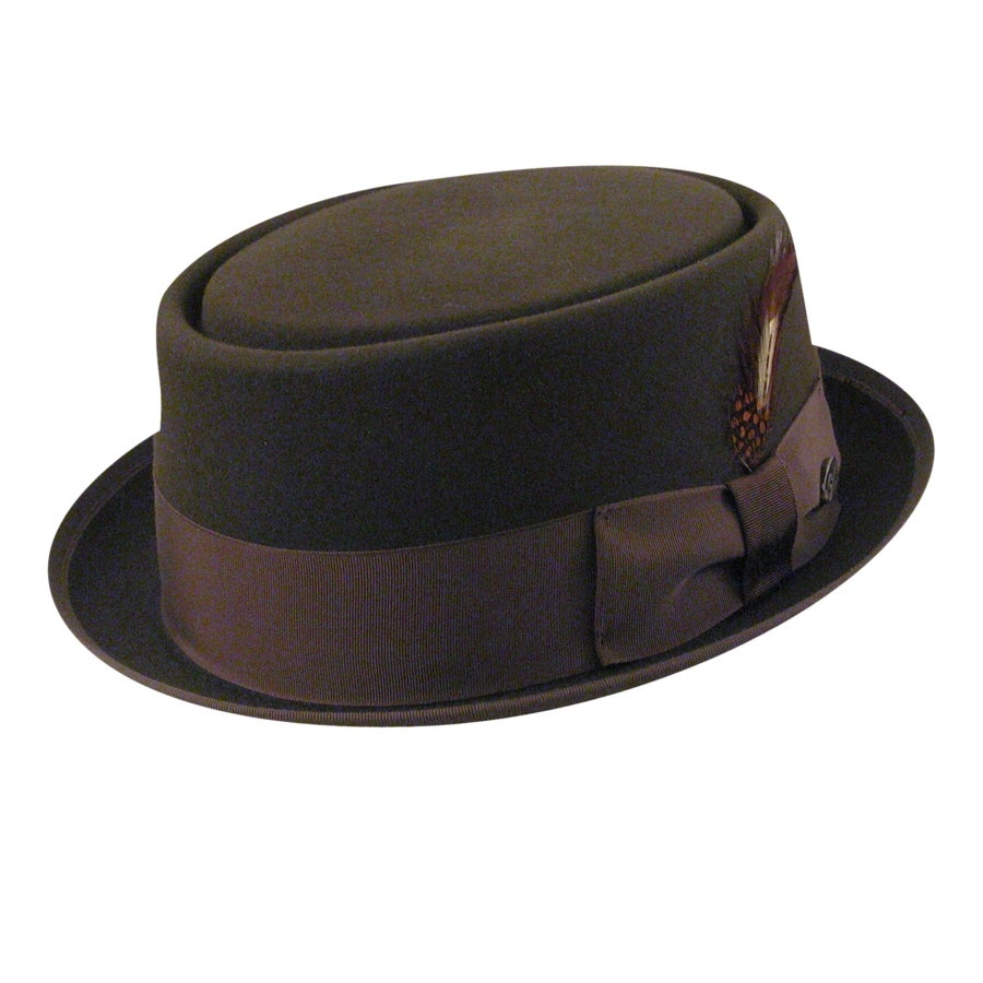 1950s Men's Clothing Pork Pie Hat $218.00 AT vintagedancer.com