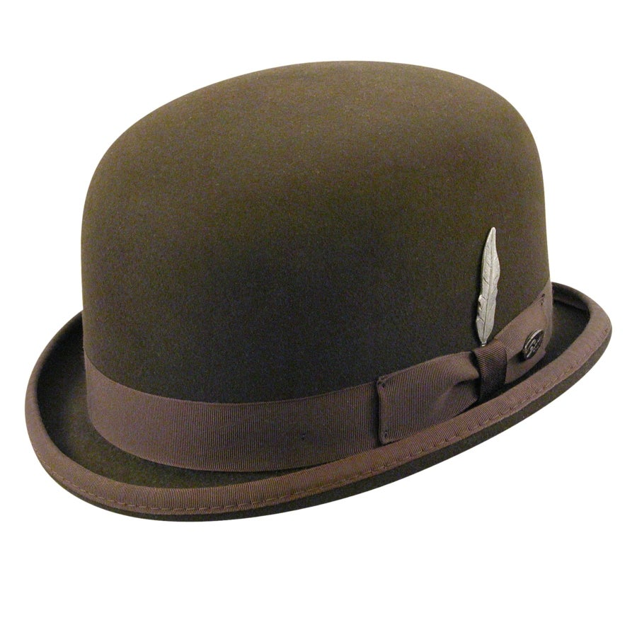 New Edwardian Style Men's Hats 1900-1920 English Derby Hat $225.00 AT vintagedancer.com