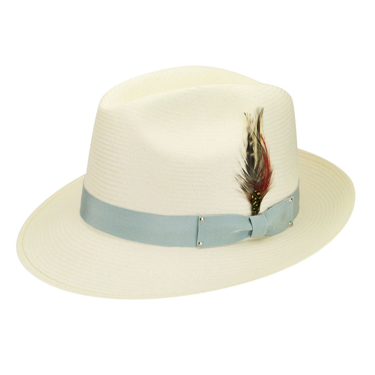 1940s Style Mens Hats Fernley Litestrawreg Fedora $118.00 AT vintagedancer.com