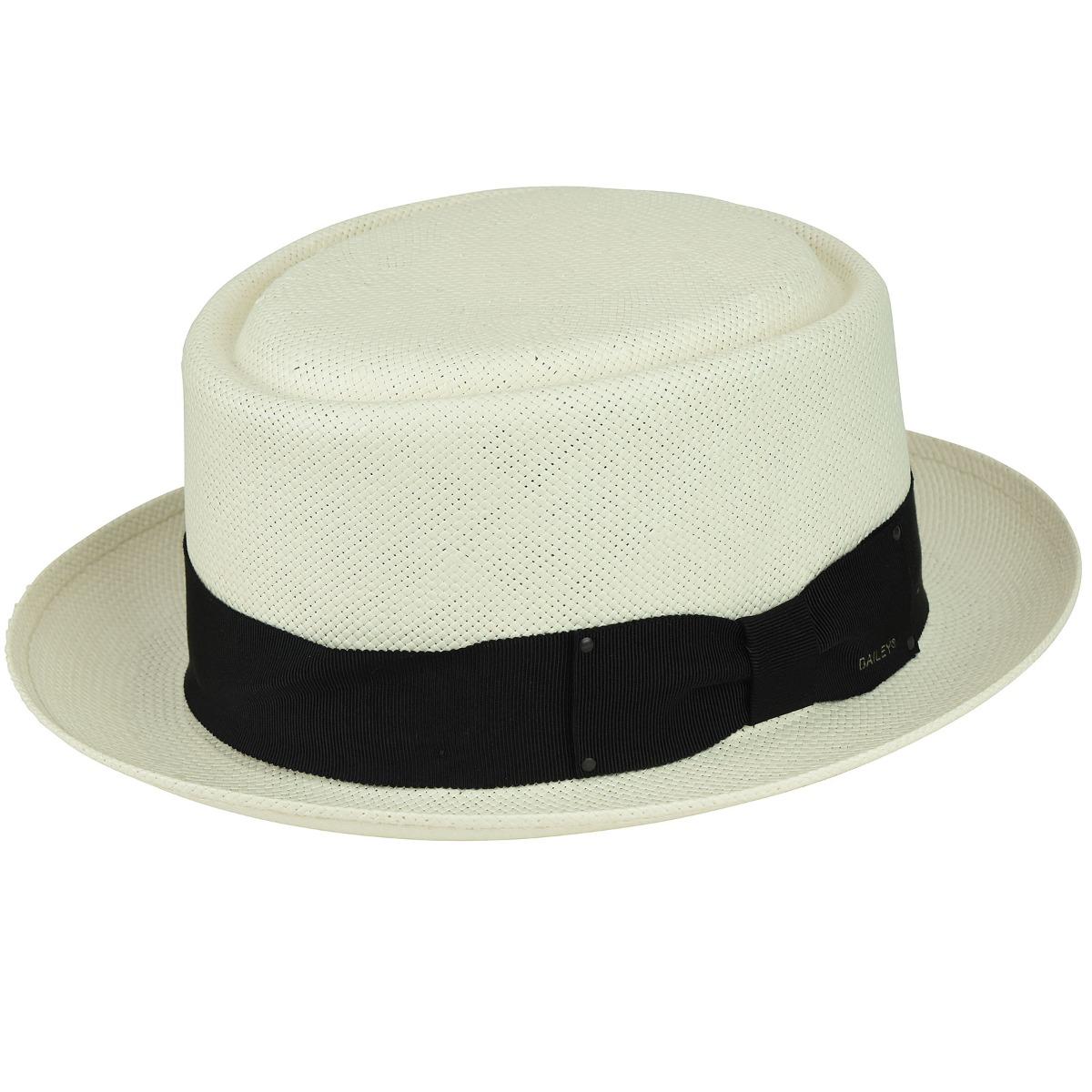 Vintage Mens Clothing | Retro Clothing for Men Larkin LiteStrawPork Pie $112.50 AT vintagedancer.com