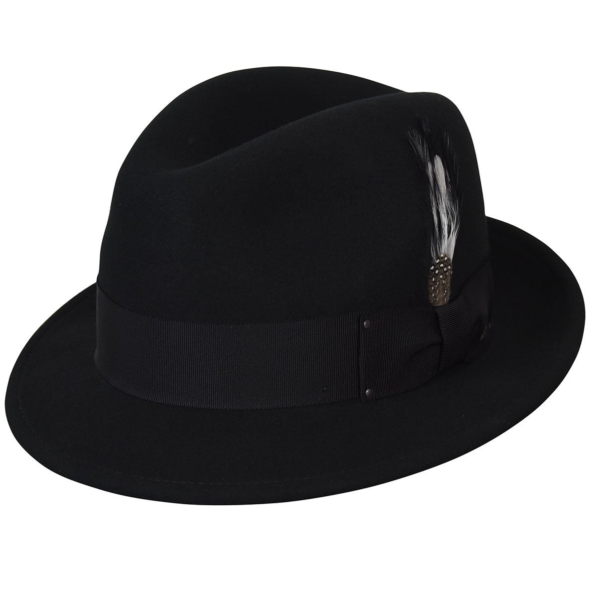 Bailey of Hollywood Tino LiteFelt Fedora in Black