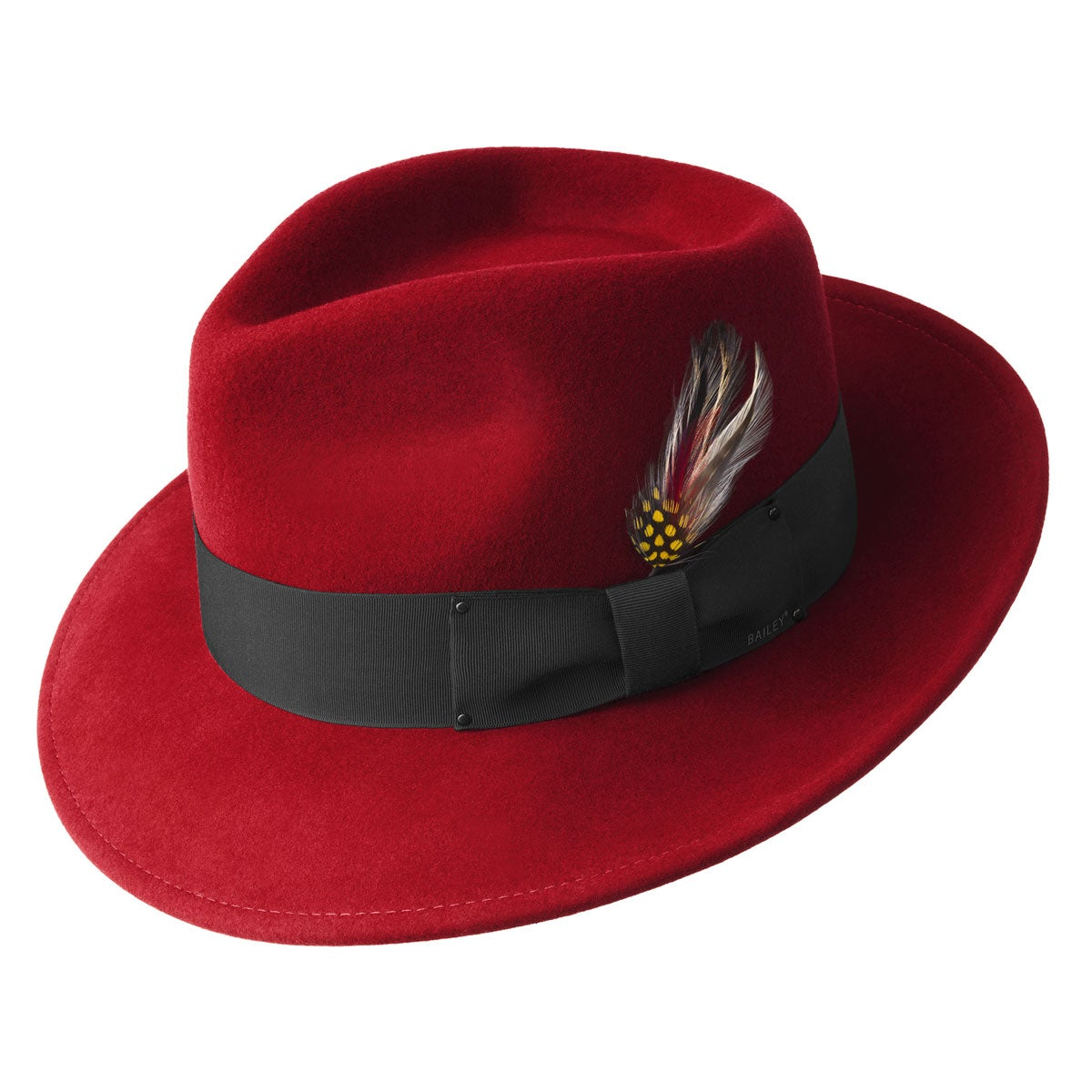 Bailey of Hollywood Classic LiteFelt Fedora in Red
