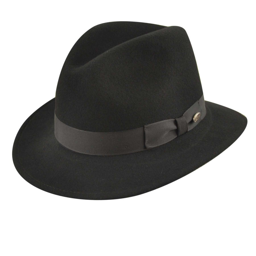 Bailey of Hollywood Curtis LiteFelt Fedora in Black