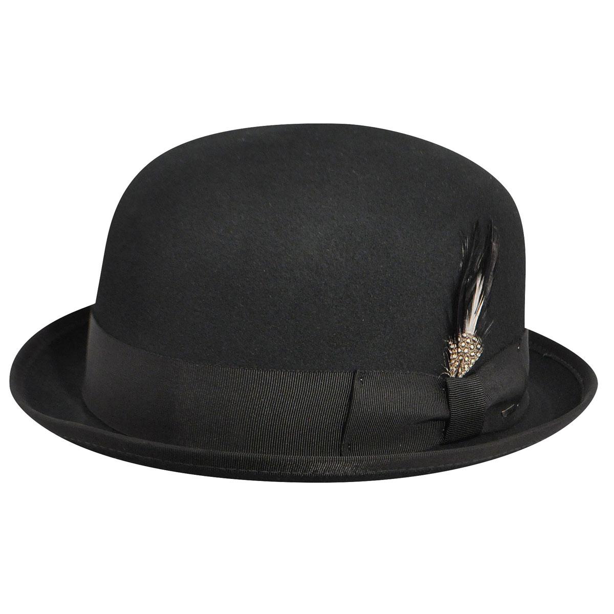 New Edwardian Style Men's Hats 1900-1920 Hollis LiteFelt reg Bowler $95.00 AT vintagedancer.com