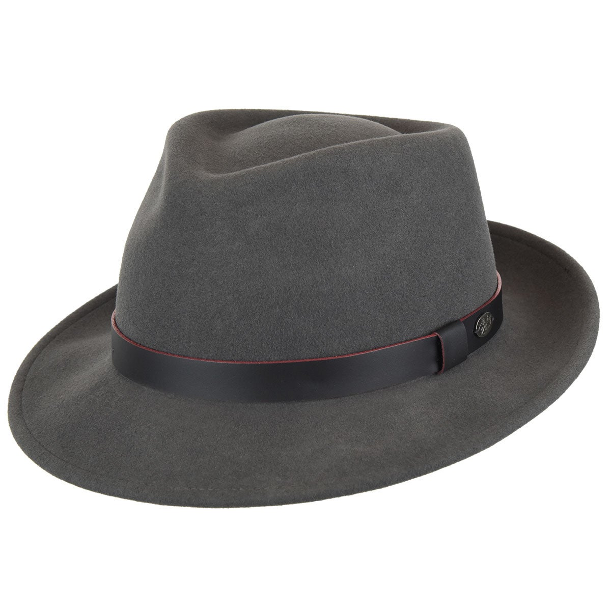 Bailey of Hollywood Baker Fedora in Charcoal